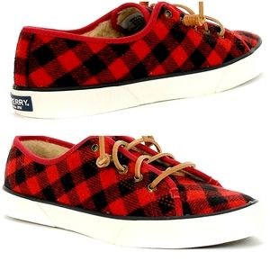 Sperry Top-Sider Pier View Buffalo Check Red Shoes
